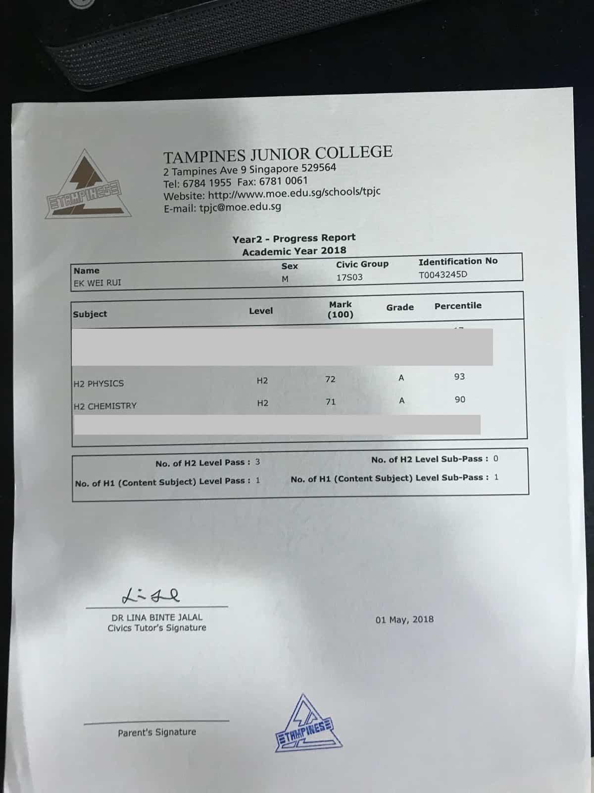 Exam Percentile
