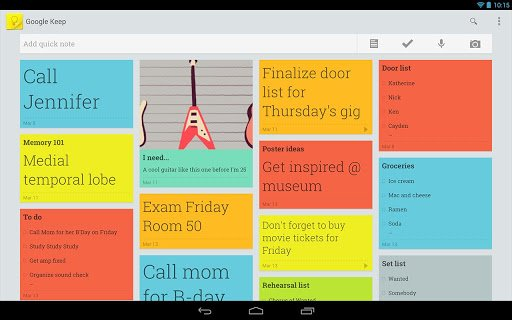Google Keep Clarification Sheets