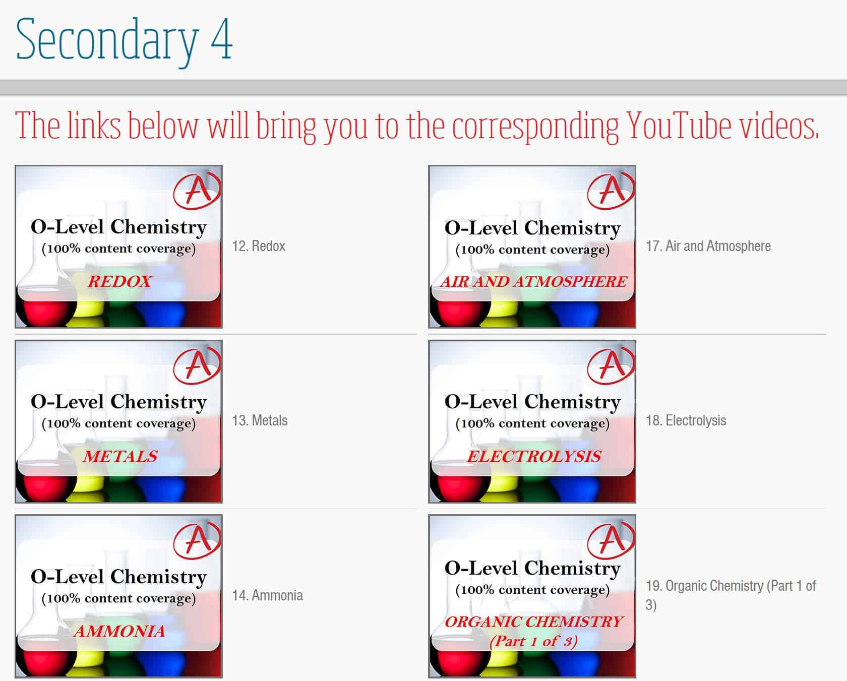 Chemlectures.sg videos