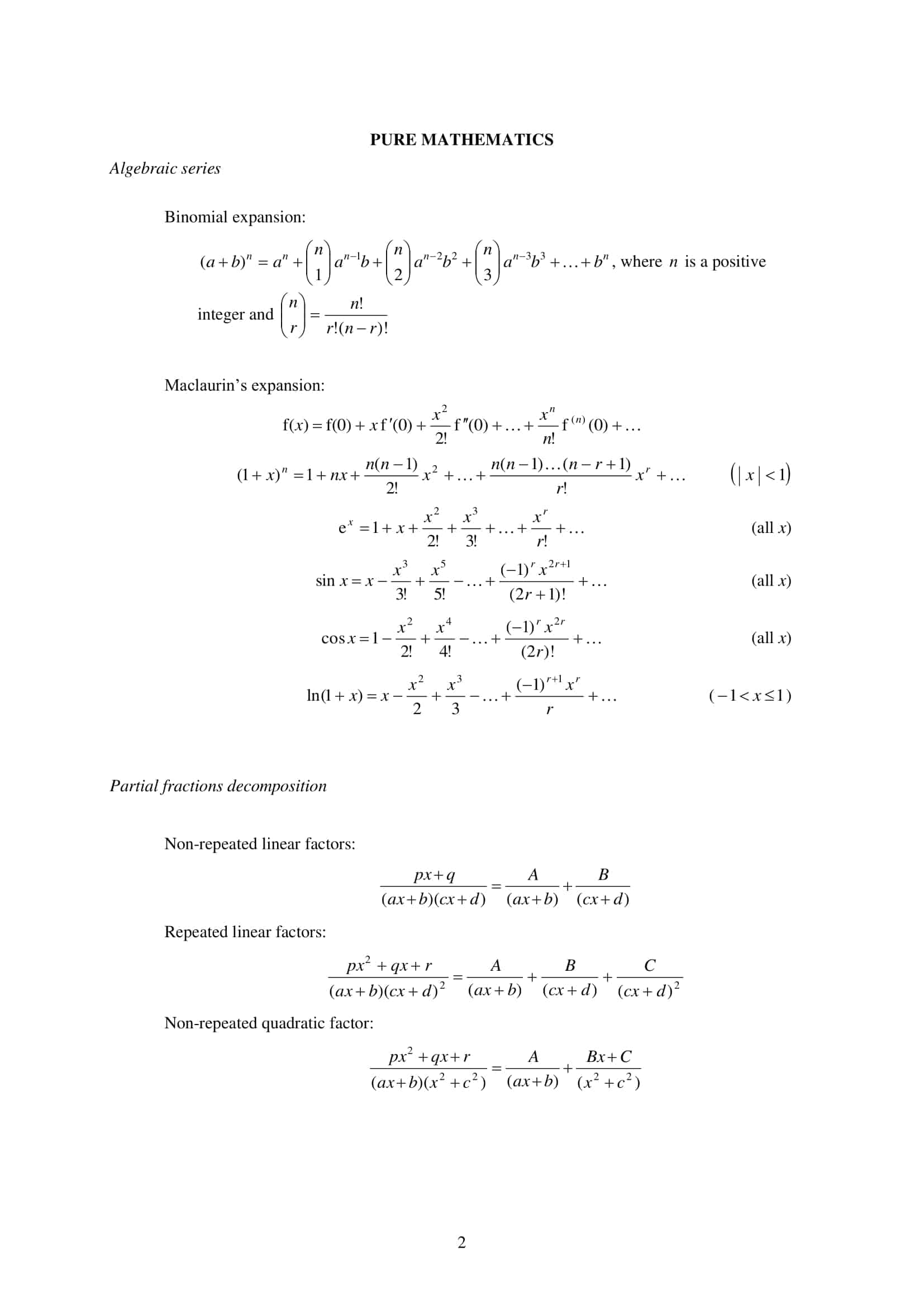 mathematical formulae and statistical tables pdf