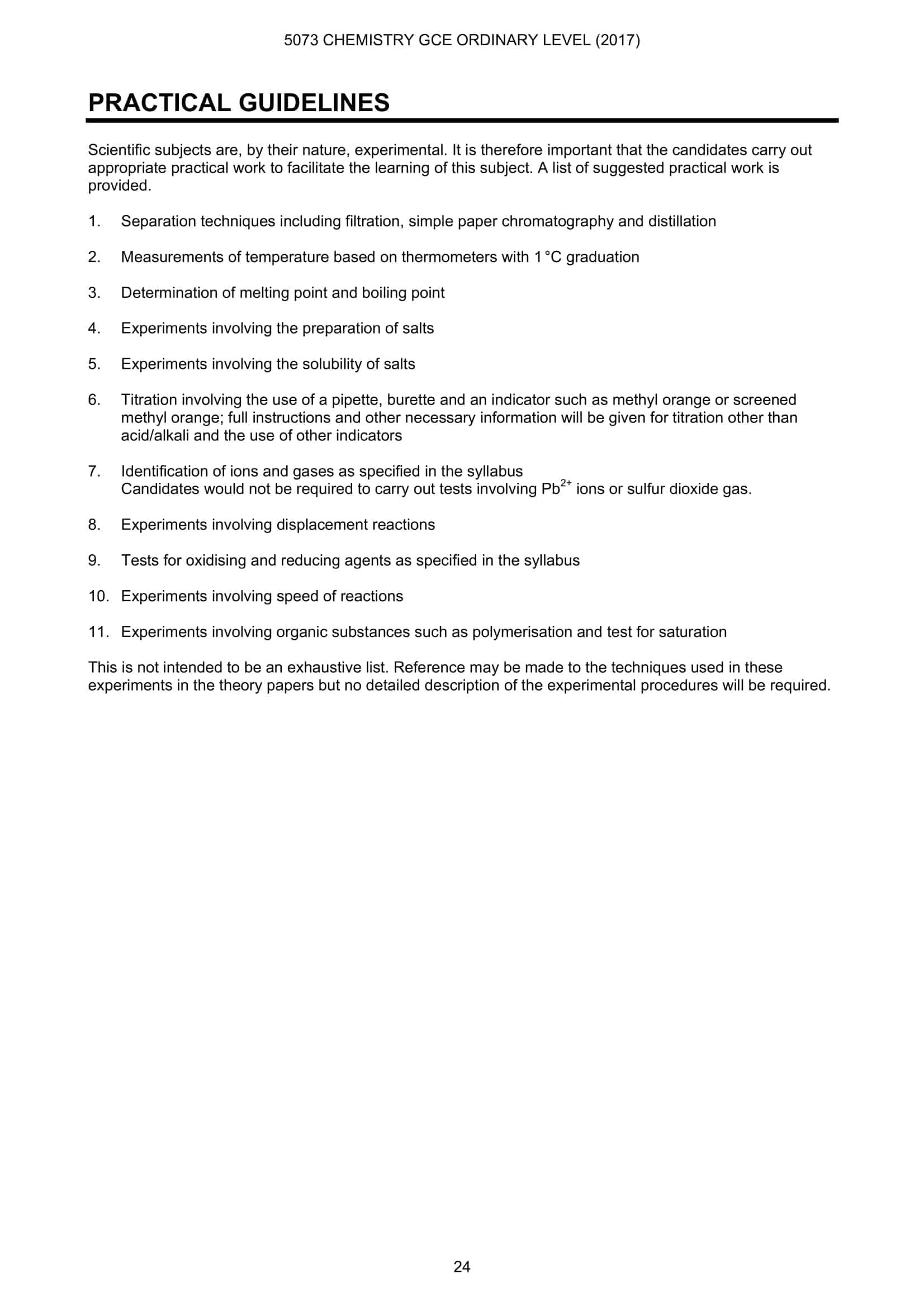 O Level Chemistry Formula Sheet 2