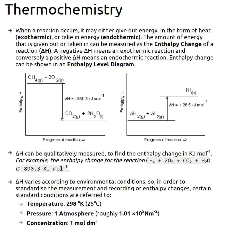 alevelnotes Thermochemistry