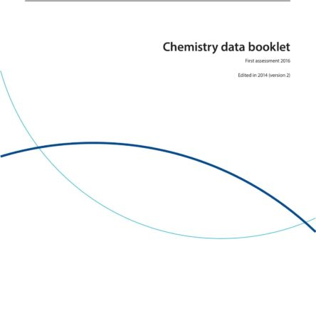 IB Chemistry Data Booklet 2020 1