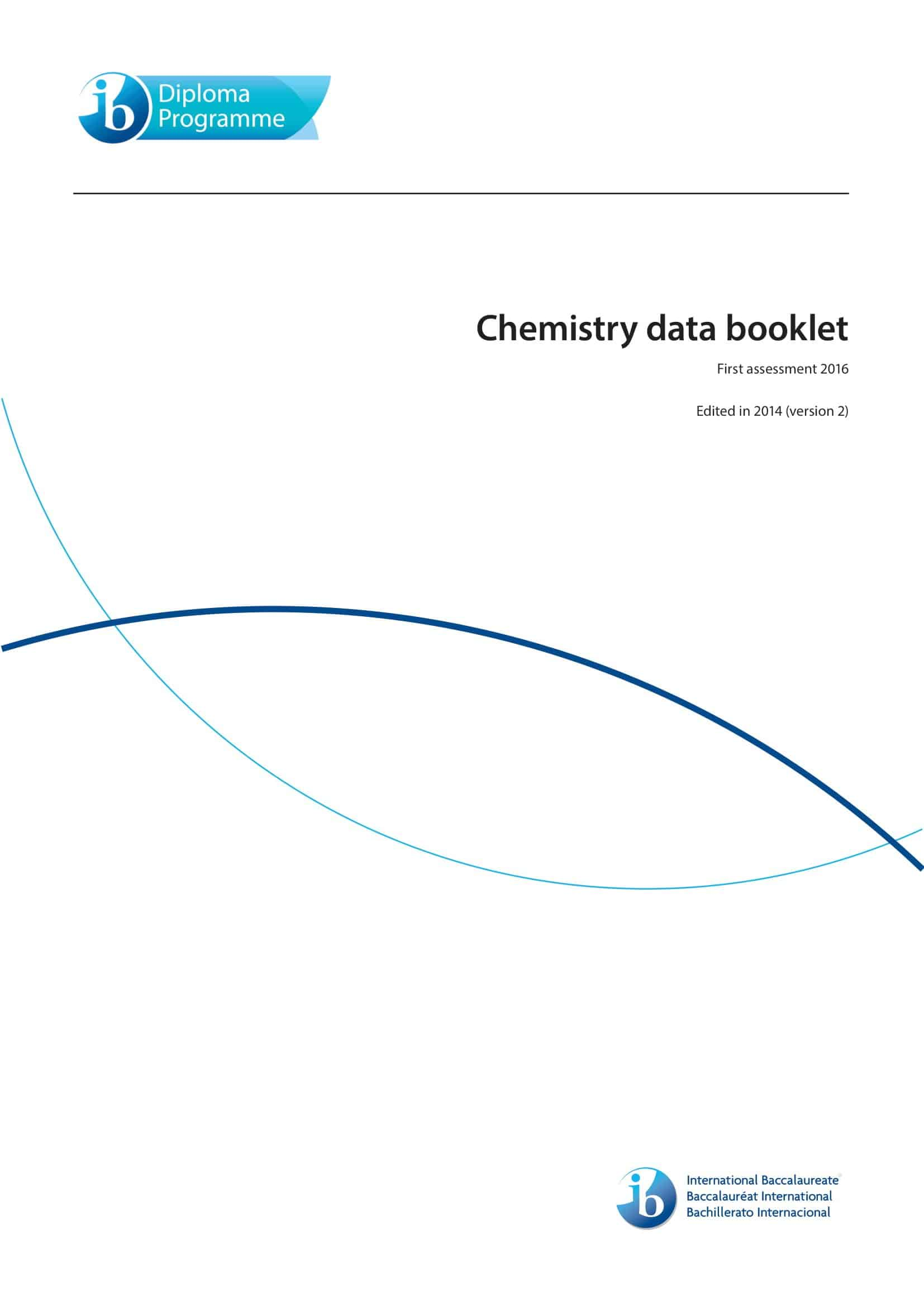 IB Chemistry Data Booklet 2020 1
