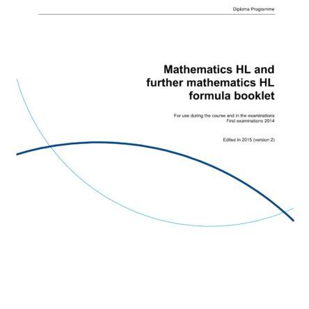 IB Math HL Formula Booklet-01