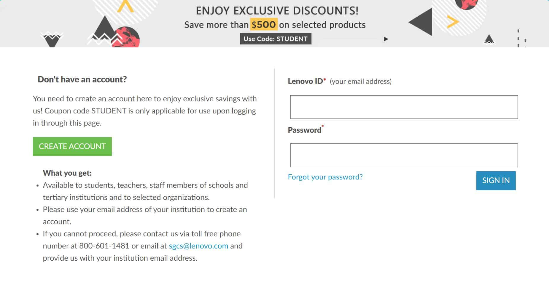 Lenovo Student Discount