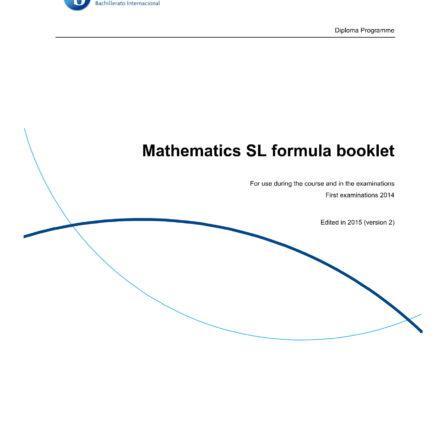 IB Math SL Formula Booklet-1
