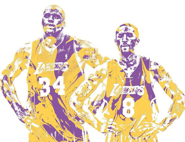 Kobe Bryant and Shaquille O' Neal