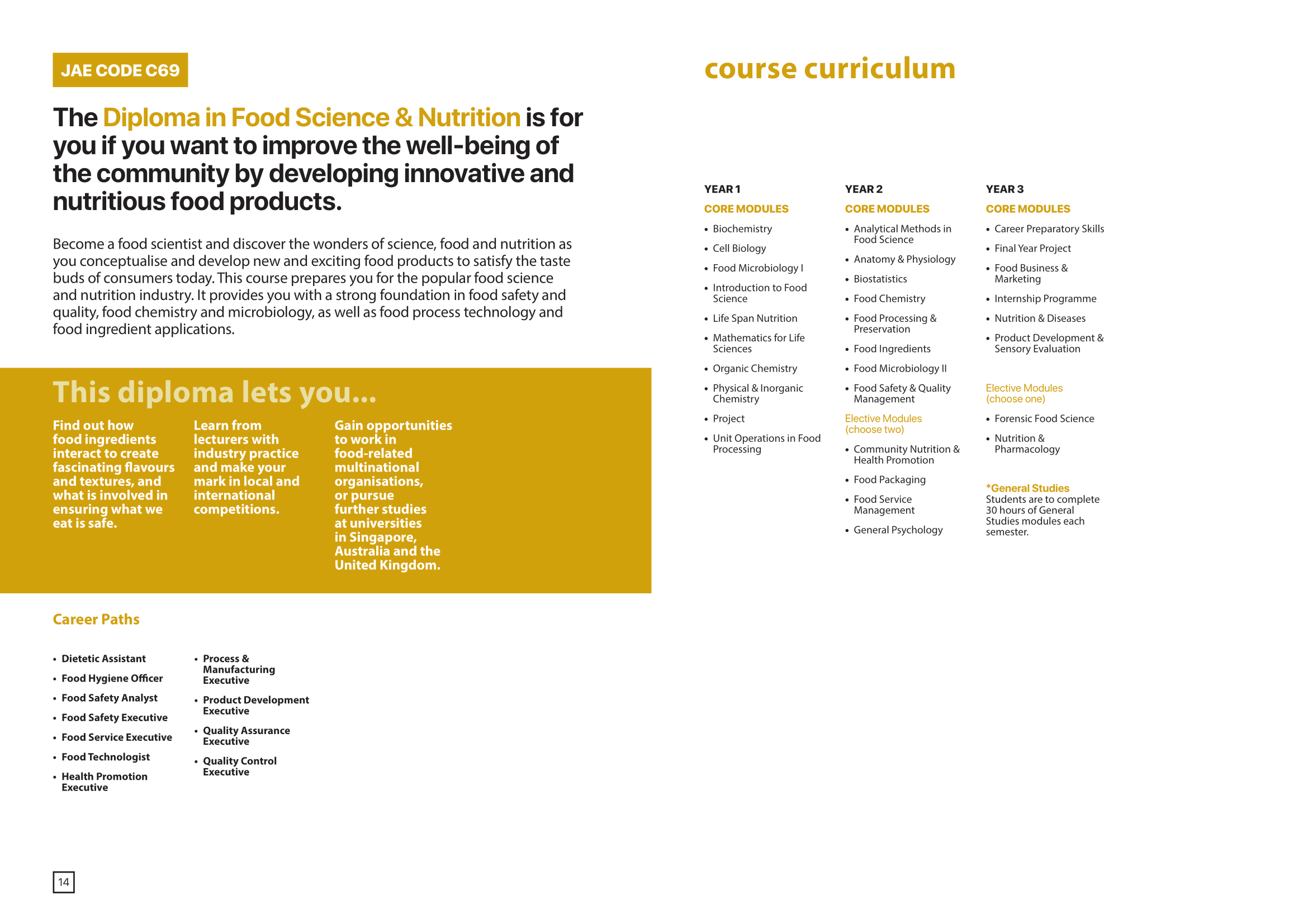 School of Chemical and Life Sciences 2020-09