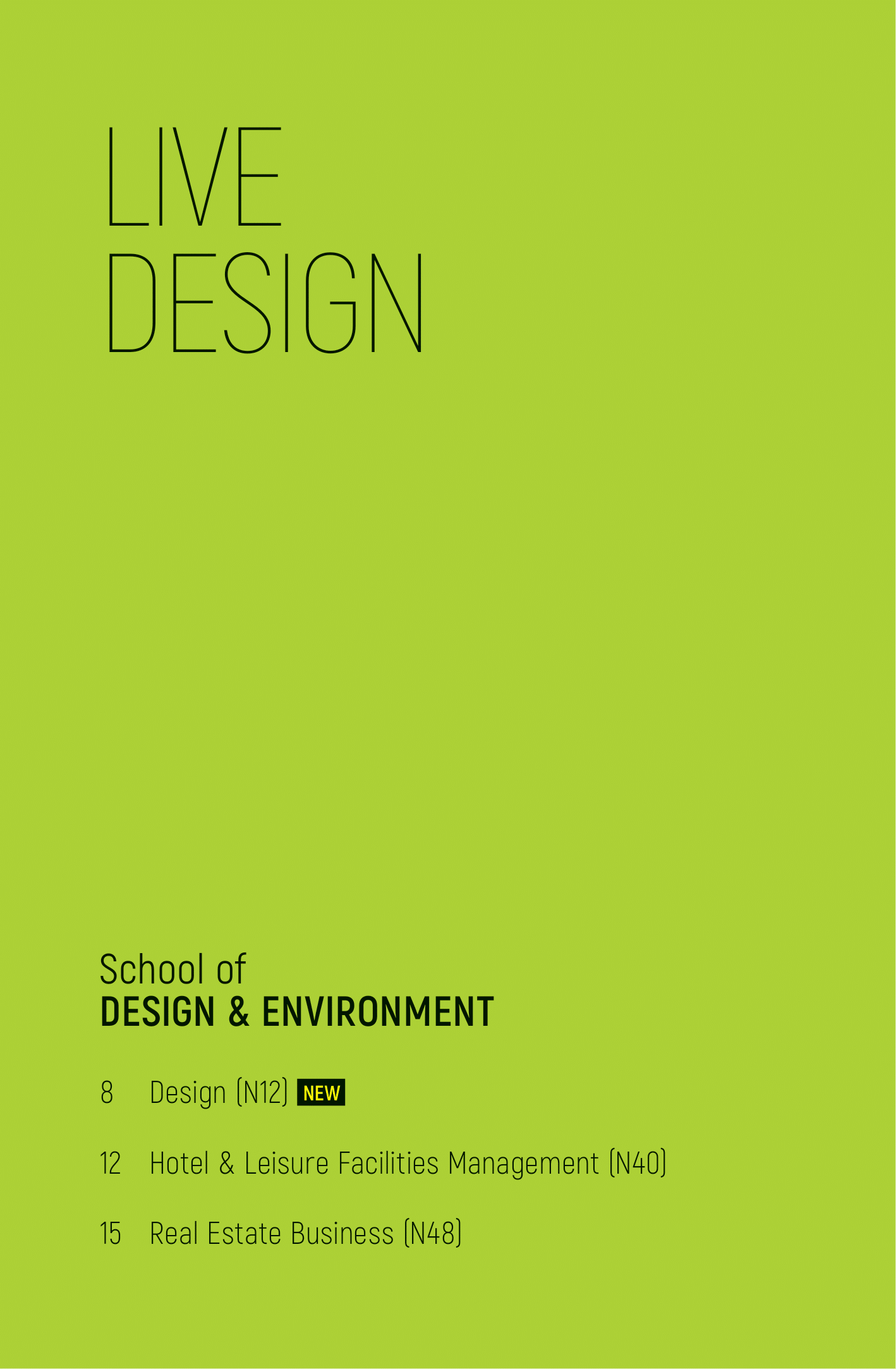 School of Design and Environment 2020-02