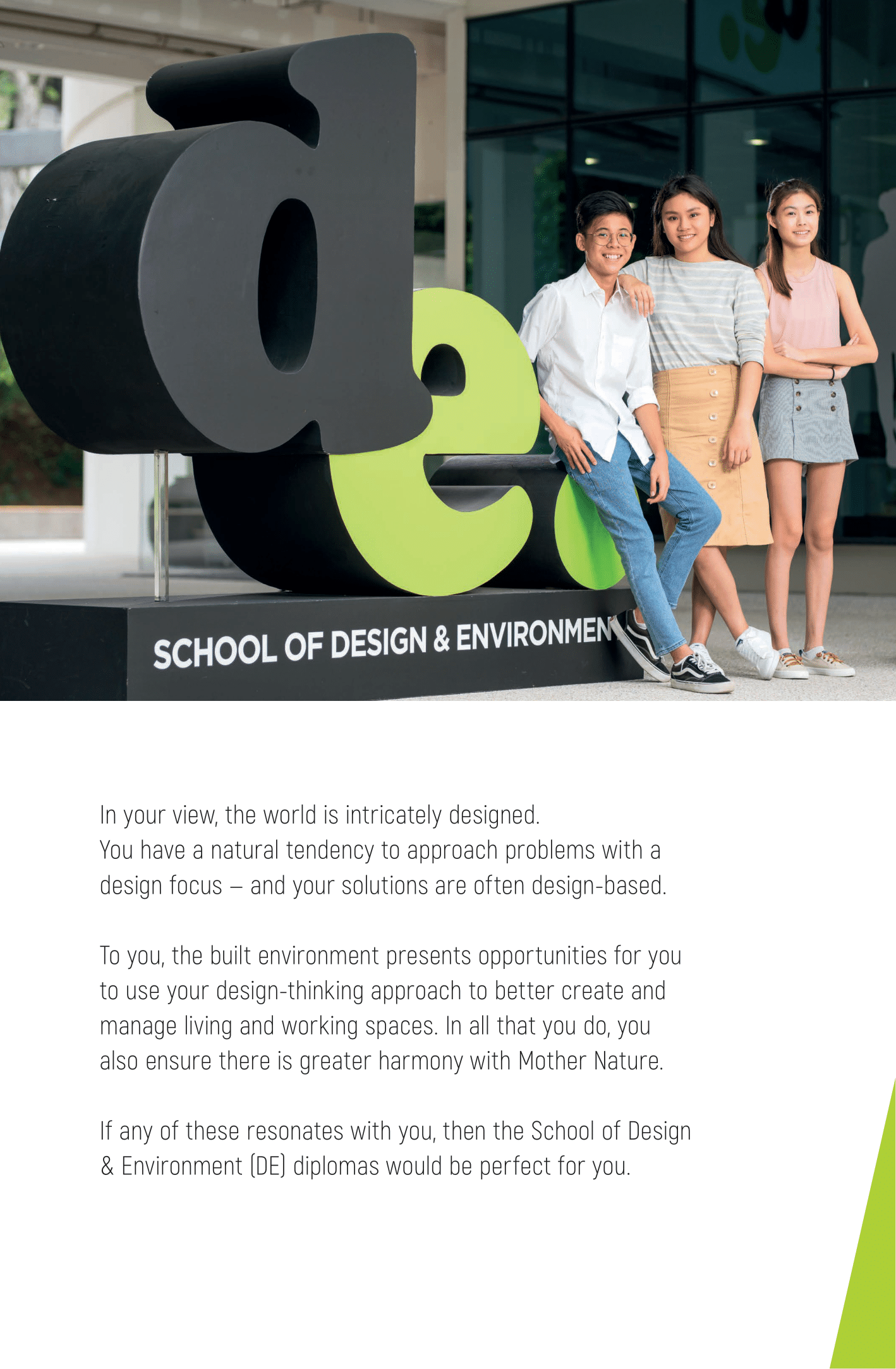 School of Design and Environment 2020-03