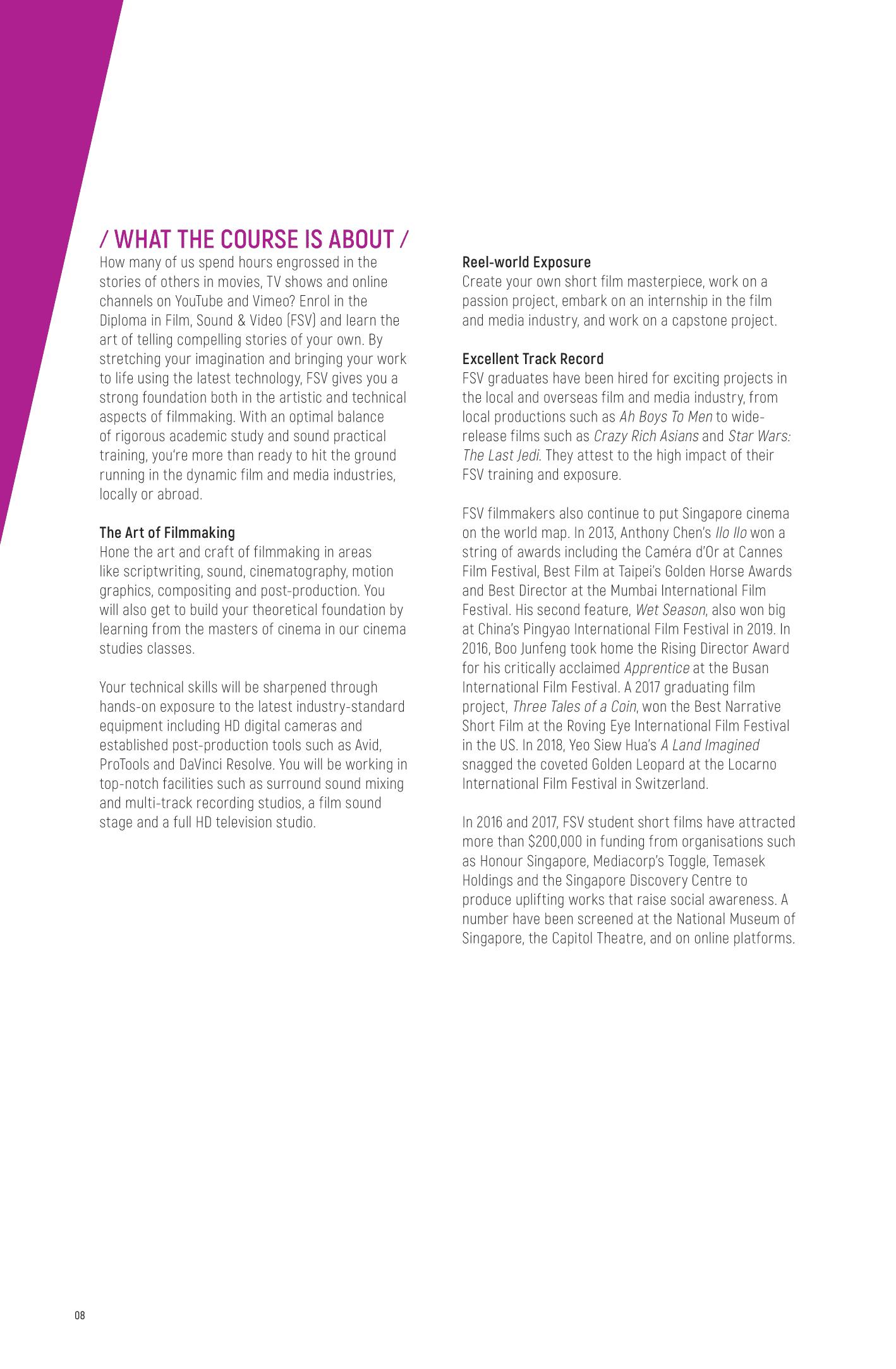 School of Film and Media Studies 2020-10