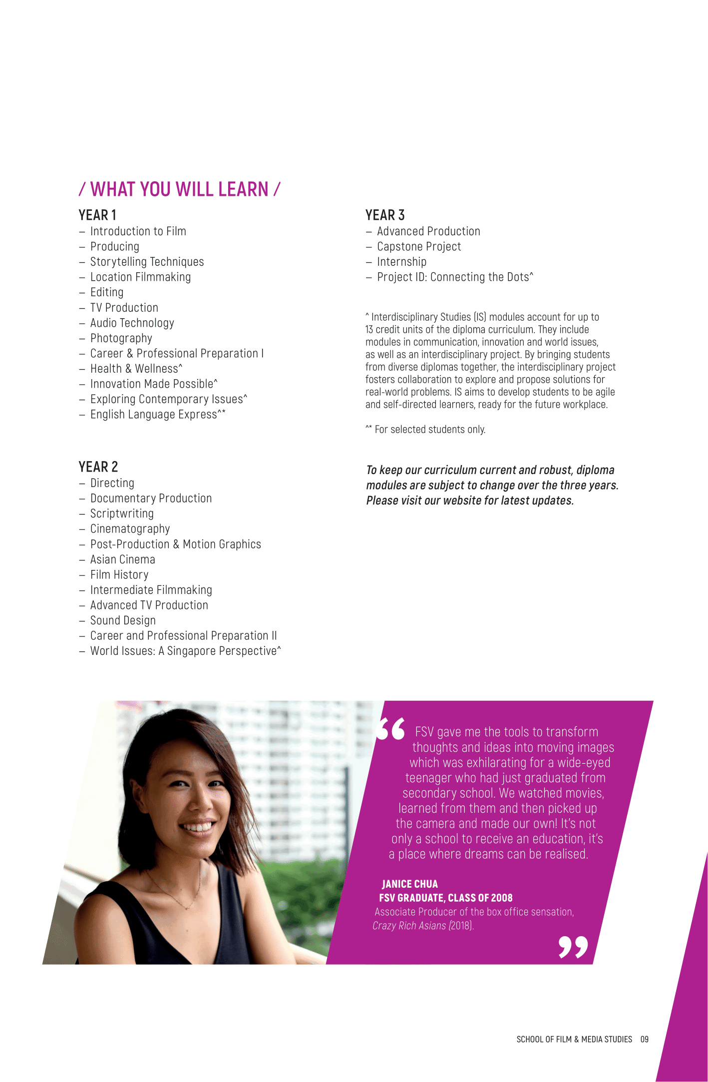 School of Film and Media Studies 2020-11