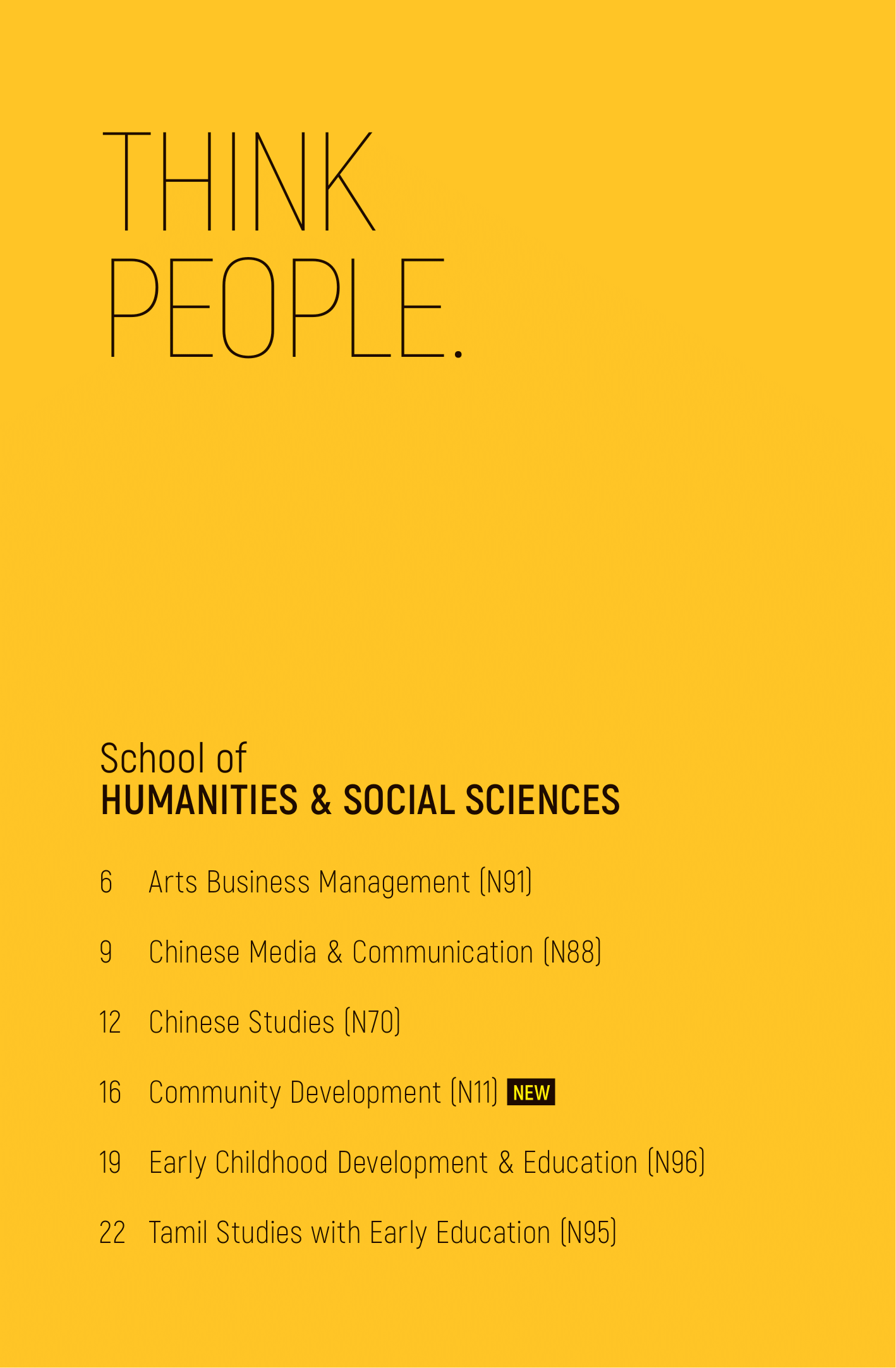 School of Humanities & Social Sciences 2020-02
