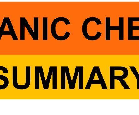 H2 Organic Chemistry