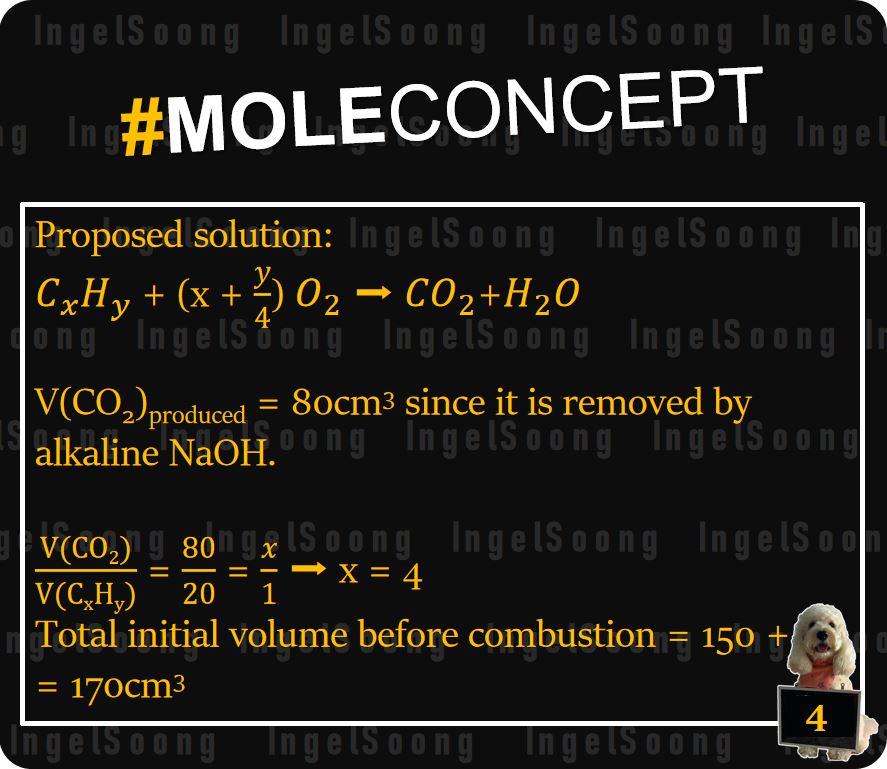 Mole concept combustion 4