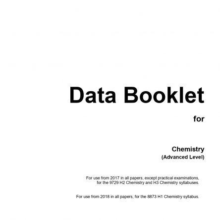 H1 Chemistry Data Booklet