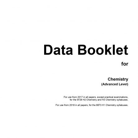 H2 Chemistry Data Booklet