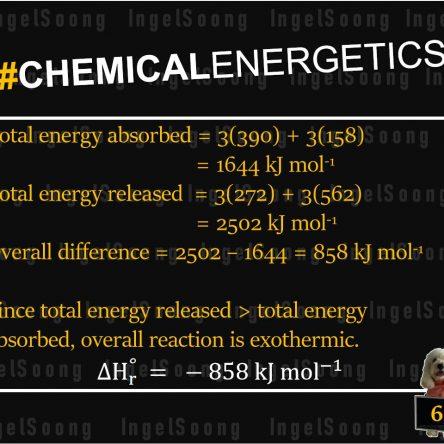 Chemical energetics bond energy 6