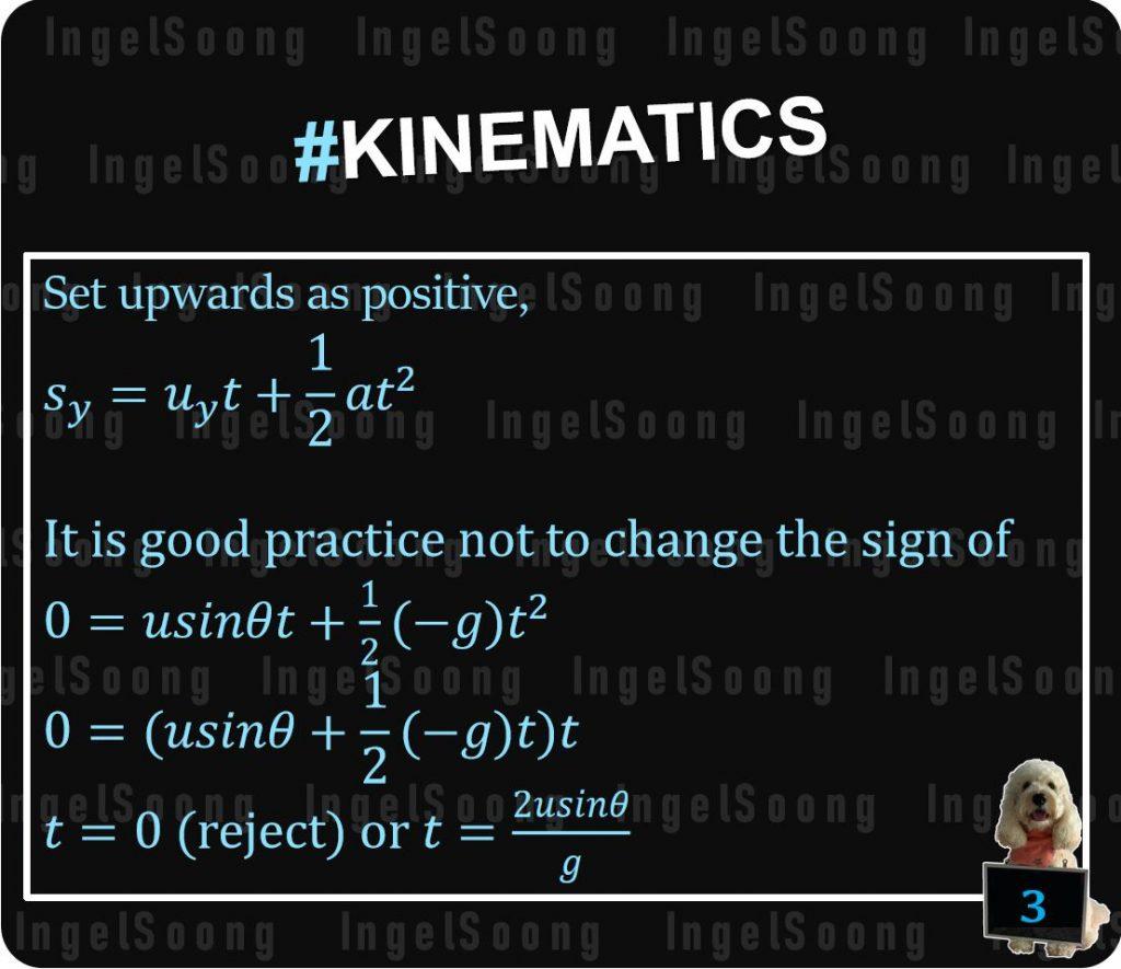 Kinematics projectile motion 3