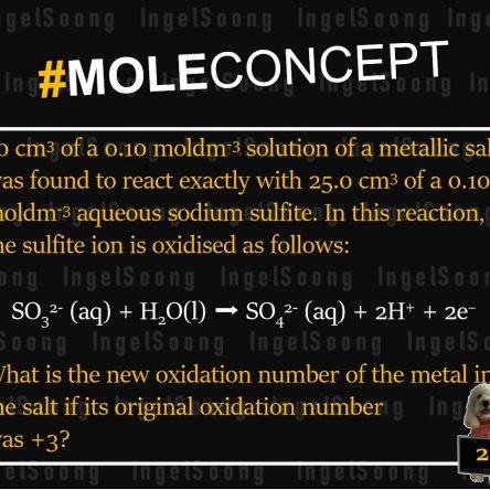 Mole concept redox 2